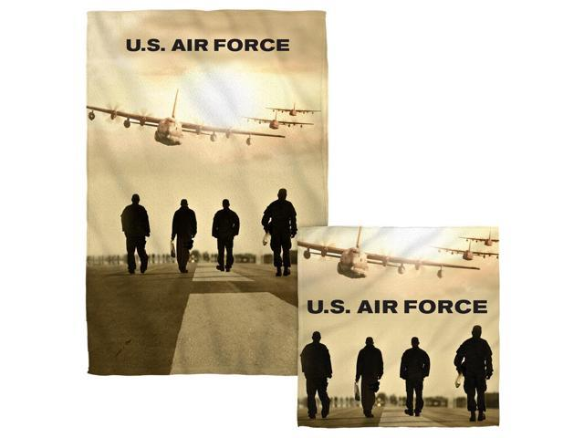 Air Force Long Walk Face Hand Towel Combo White