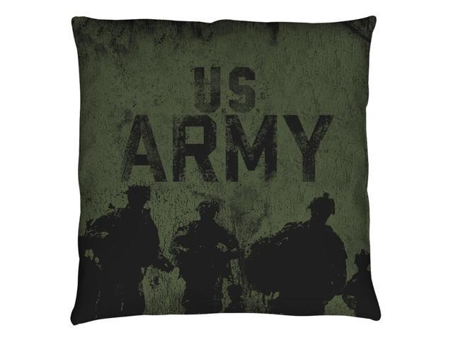 Army Strong Throw Pillow White 26X26
