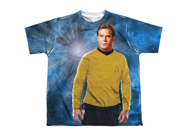 Star Trek Uss Enterprise Schematic Big Boys Youth Sublimated Polyester Shirt