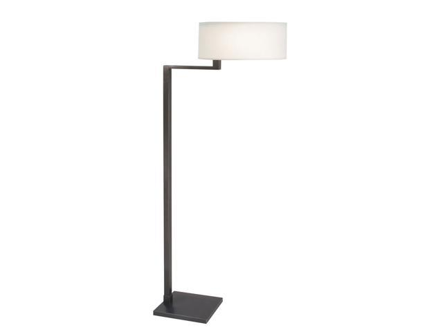 Black Brass Quadratto Floor Lamp