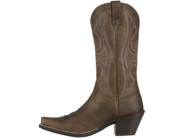 ariat western boots womens up cowboy 6 b brown