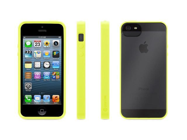 Griffin Reveal Protective Clear Case with Citron Trim for iPhone 5/5s, iPhone SE   Ultra-thin hard-shell See-Through Case