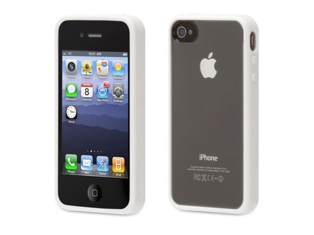 Griffin Reveal Clear Protective Case with White Trim for iPhone 4/4s   Ultra-thin protective case for iPhone 4/4s