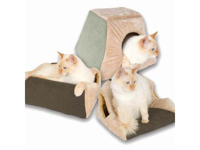 K&H Pet Products Thermo Kitty Cabin Mocha 16