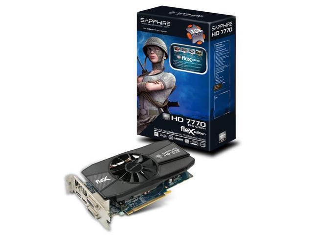 Sapphire Tech HD 7770 GHZ Edition 1GB GDDR5 Flex Video Card
