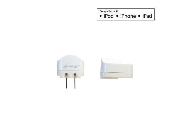 AC USB Charger with 1A USB Port for iPod and iPad
