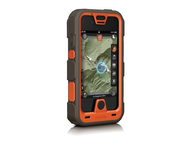 Mophie Juice Pack Pro Outdoor Edition Ruggedized Rechargeable External Battery Case for iPhone 4/4S (2,500 mAh) - Orange