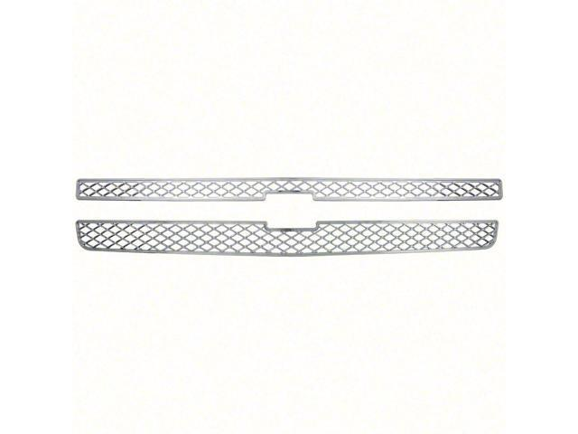 New Chrome Grille Cover Insert Overlay Fits Chevy Silverado LT, LS 2007 - 2013 gi-40
