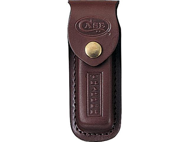 Case 980 Trapper Leather Sheath Brown Leather Stamped Logo 5