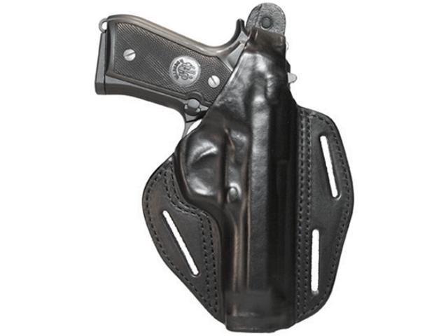 BlackHawk 3 Slot Leather Pancake Holster-Glock26/27/33-Right