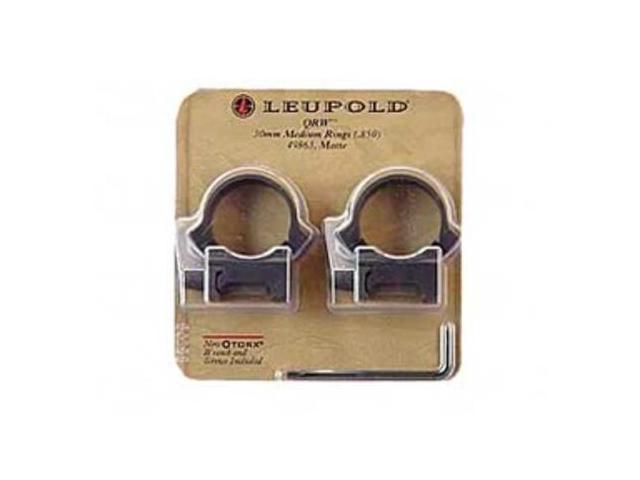 Leupold 49863 QRW 30mm Detachable Rings Medium Matte Black