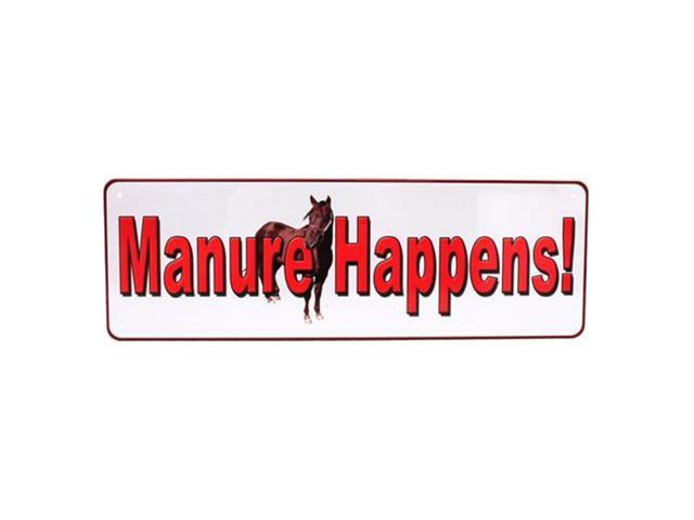 Rivers Edge Products Manure Happens Tin Sign 10.5