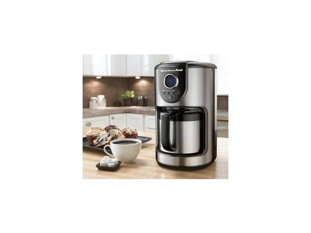 Kitchenaid Programmable Coffee Maker Thermal Carafe : KitchenAid KCM112OB Onyx Black 10 Cup Thermal Carafe Coffee Maker - Newegg.com