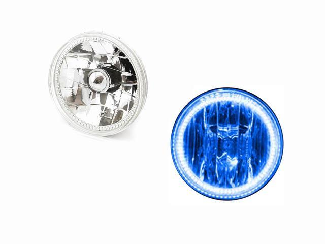 ORACLE Hummer 06-10 H3 Blue LED Bright Angel Eyes Demon HALO Head Light Bulbs Kit DRL