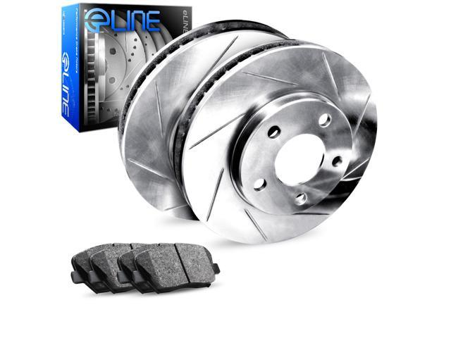 Rear eLine Slotted Brake Rotors & Heavy Duty Brake Pads RES.65112.04