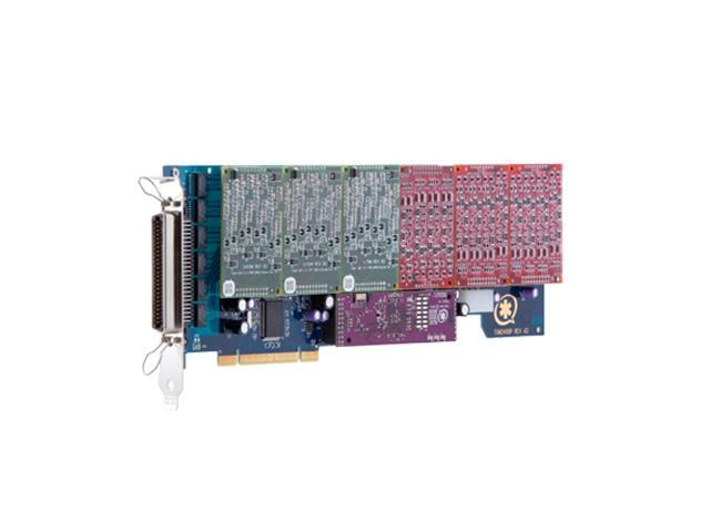 Digium 24 Port Modular Analog PCI-Express x1 Card with No Interfaces and Hardware Echo Cancellation 1AEX2400ELF