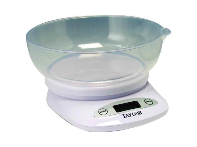 Taylor Precision Products Digital Kitchen Scale With Bowl