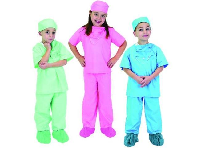 Jr. Dr. Scrubs Set - 6 to 8 - Blue