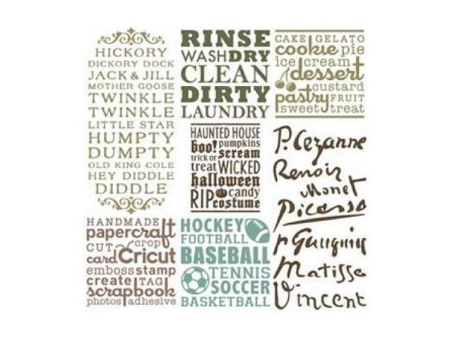 Provo Craft 2001096 CRICUT Projects Cartridge Word Collage