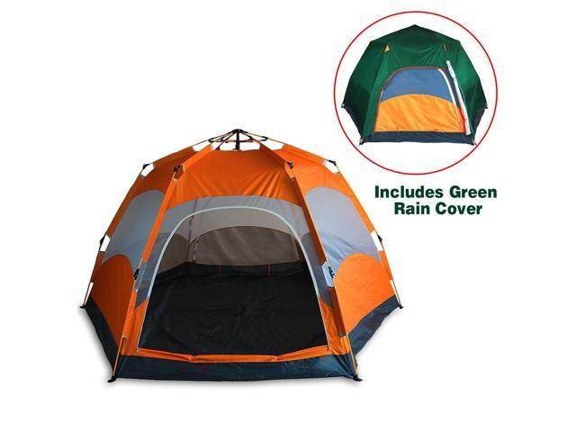 Qwest 4 person Portable Instant Waterproof C&ing Tent Canopy Shelter Green  sc 1 st  Newegg.com & Qwest 4 person Portable Instant Waterproof Camping Tent Canopy ...