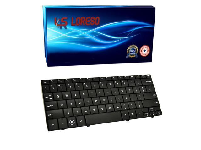 Laptop Keyboard Compaq Mini PC 110c-1030EK 110c-1030EQ 110c-1030ER 110c-1030EV 110c-1030SB 110c-1030SF 110c-1030SS Black - (Loreso Replacement Part)