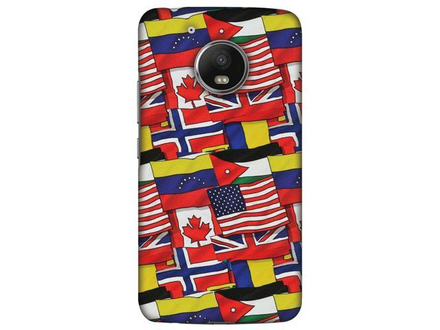 Rubberized Designer Stylish Printed Light weight Snap On Hard Shell Skin Cover Carrying Case for Motorola Moto G5 (Flags United)