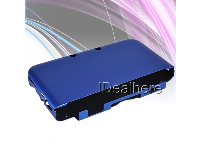 Dark Blue Aluminum Shell Case Cover with Flannel inside For Nintendo 3DSLL