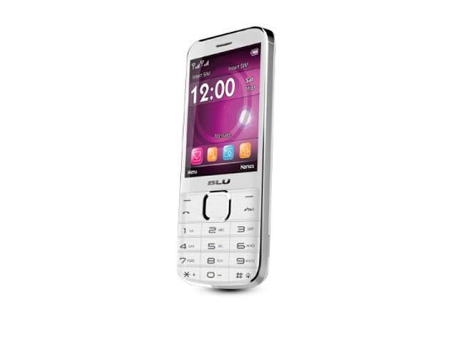 Blu Diva X T372T White Unlocked GSM Dual-SIM Cell Phone