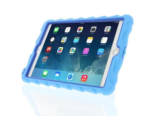 Gumdrop Cases Hideaway Stand for Apple iPad Mini 3 Rugged Tablet Case Shock Absorbing Cover Light Blue/Royal Blue A1599, A1600, A1601