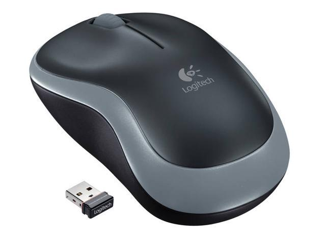 Logitech M185 910-002225 Swift Gray 3 Buttons 1 x Wheel USB RF Wireless Mouse