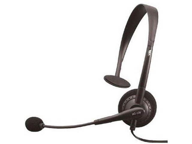 Acoustics AC-100B Monaural Headset w/ Noise-Canceling w/ Microphone Mic