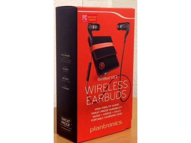 BackBeat GO 2 Wireless Bluetooth Stereo Earbuds BLACK+ Charging Case