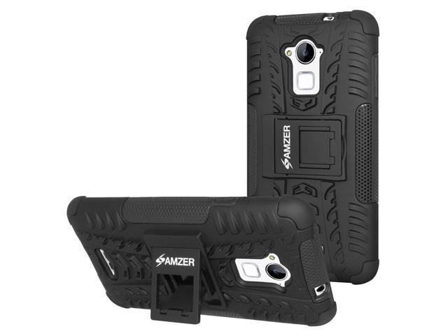 Coolpad Note 3 Case, [Heavy Duty] [Shockproof] Hybrid Warrior Armor Protective Case Cover with Stand, Includes [Hybrid Warrior Case: Black] + [Micro USB Car Charger] + [MicroUSB Travel Wall Charger]