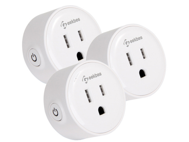 3-Pk. Geekbes YM-WS-1 Smart Socket WiFi Mini Plug Socket
