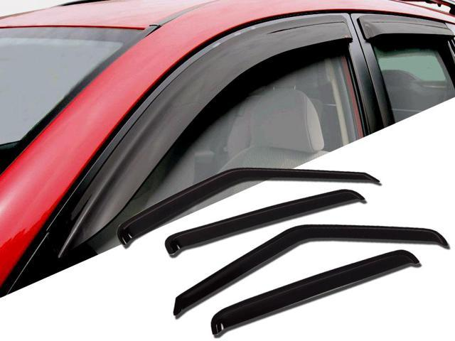 Window Visor Rain Guard Deflector Outside Mount 4 Pcs Set Fits Land Rover Discovery II 1999-2004