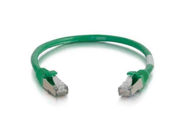 C2G / Cables to Go 00825 Cat6 Snagless Shielded (STP) Network Patch Cable, Green (1 Foot/0.30 Meters)