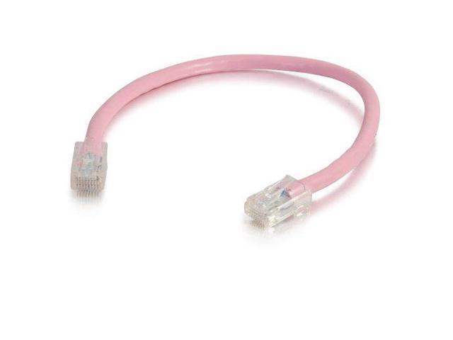 C2G / Cables to Go 00617 Cat5E Non-Booted Patch Cable, Pink (1 Foot/0.30 Meters)
