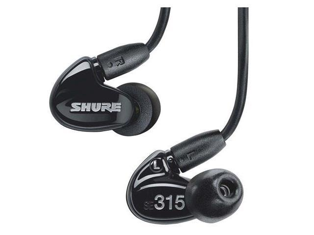 Shure SE315-K Sound Isolating Earphone Hi-Definition Micro Speaker with Tuned Bass Port (Black)
