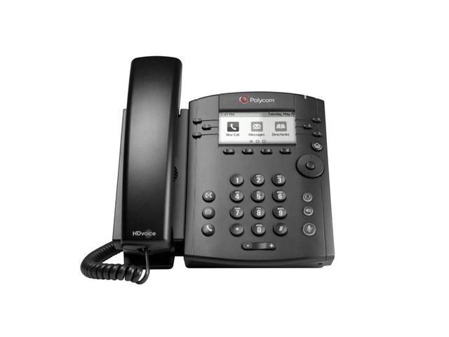 Polycom - 2200-46161-001 - VVX 310 6-line Desktop Phone Gigabit Ethernet with HD Voice - with Power Supply