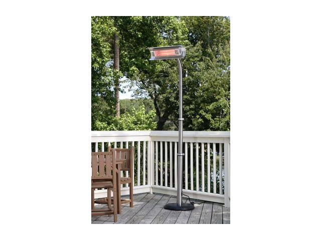 Fire Sense   02117   Fire Sense Stainless Steel Telescoping Offset Pole  Mounted Infrared Patio Heater