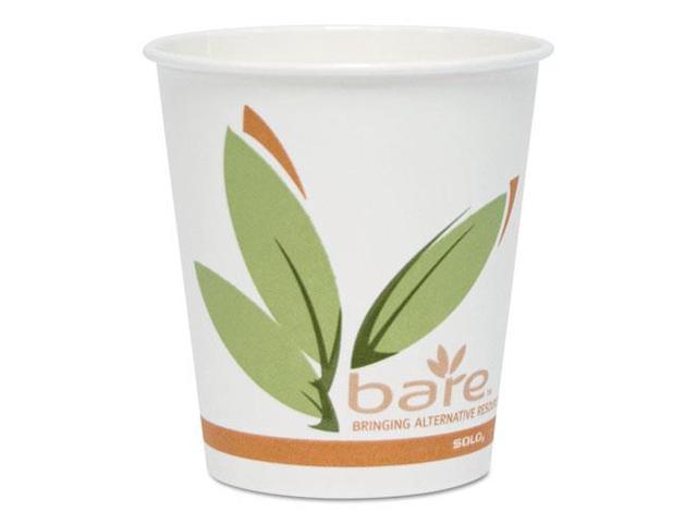 SOLO Cup Company 410RC Bare PCF Paper Hot Cups, 10 oz, 1000/Carton, 1 Carton