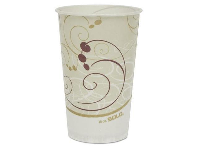 Solo Cup - RW16-J8000 - Symphony Treated-Paper Cold Cups, 16oz, White/Beige/Red, 50/Bag, 20 Bags/Carton