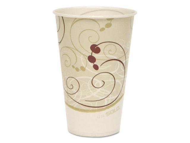 Solo Cup - R12N-J8000 - Symphony Treated-Paper Cold Cups, 12oz, White/Beige/Red, 100/Bag, 20 Bags/Carton