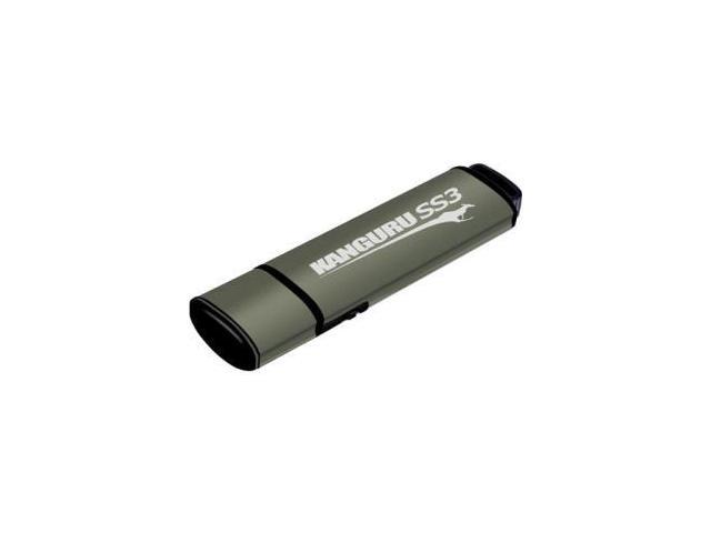 Kanguru - KF3WP-256G - Kanguru SS3, USB 3.0 Flash Drive with Write Protect Switch, 256G - 256 GB - USB 3.0 - Kanguru