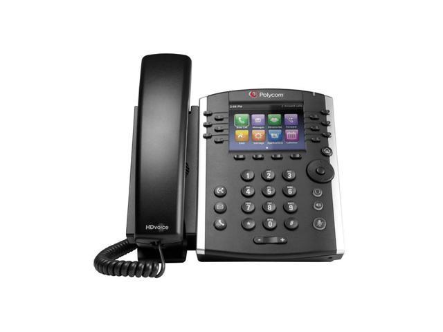 Polycom - 2200-46162-019 - VVX 410 12-line Desktop Phone (PoE) Gigabit Ethernet Skype for Business Edition