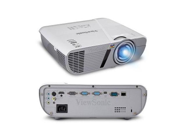 Viewsonic - PJD6550LW - Viewsonic LightStream PJD6550LW 3D Ready DLP Projector - 720p - HDTV - 16:10 - Front, Ceiling -