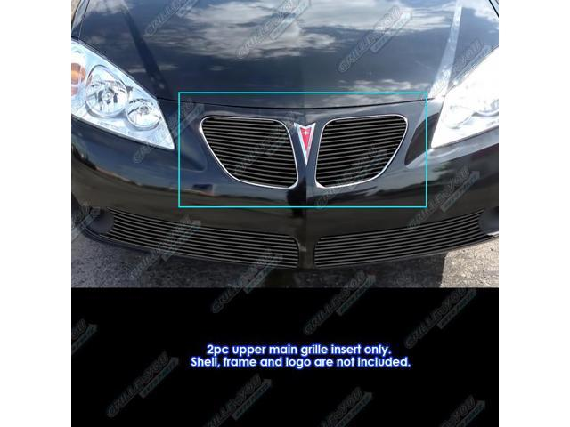 For 2005-2008 Pontiac G6 Main Upper Black Billet Grille Insert #N19-H85158P