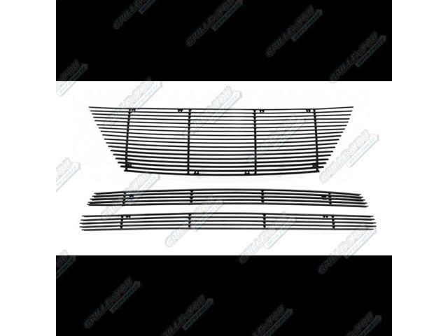For 2012-2014 Nissan Versa Sedan Black Billet Grille Combo #N19-H40318N