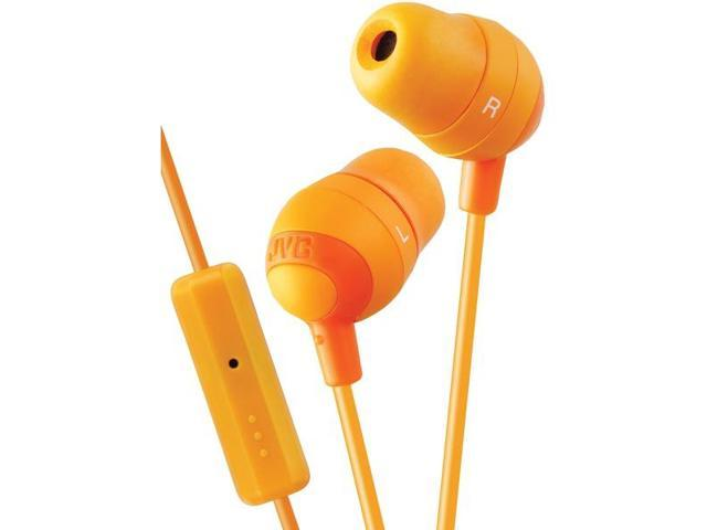 JVC Orange HAFR37D Marshmallow Inner Ear With Microphone & Remote