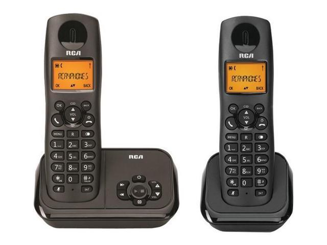 RCA 2162-2BKGA Element Series DECT 6.0 Cordless Phone with Caller ID & Digital Answering System (2-Handset System)